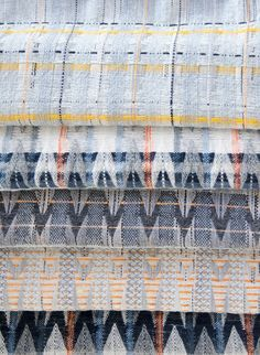 Urban Perspectives - architecturally inspired textiles designed by Clair Whyman Weaving Textiles, Textile Fabrics, Tapestry Weaving, Textile Patterns, Home Textile, Textile Art, Textiles Techniques, Weaving Techniques, Loom Weaving