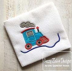 Train 71 Applique - 3 Sizes! | What's New | Machine Embroidery Designs | SWAKembroidery.com Jazzy Zebra Designs