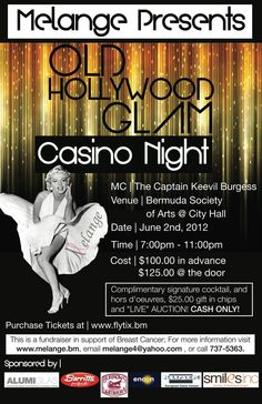 Old Hollywood Glam Casino Night and Live Auction - Saturday 2nd June 2012