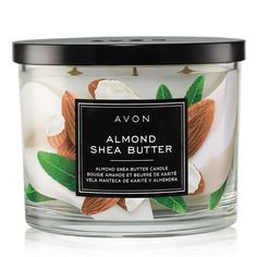 Part of the Home Fragrance Collection, the Almond Shea Butter Candle fills your home with a pampering, sweet aroma.  #Avon #Candles #Avonrep