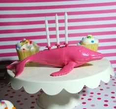 Pink Humpback Whale Candle Holder by TonysDinostore on Etsy