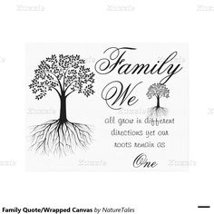 50% off Family Quote/Wrapped Canvas Canvas Print