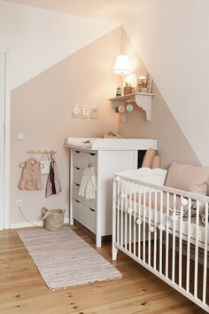 Girl& room- Mädchenzimmer A dream in pink – Beautiful nursery for a … - Baby Bedroom, Baby Room Decor, Nursery Decor, Nursery Room Ideas, Girl Decor, Project Nursery, Baby Room Design, Nursery Design, Bedroom Wall Designs