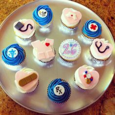 Nurse themed cupcakes