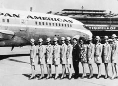 Pan Am IGS Class 2, 1970 - Pan Am operated a Berlin crew base of mainly German flight attendants and American pilots to staff its IGS flights. The German National flight attendants were later taken over by Lufthansa when it acquired Pan Am's Berlin route authorities.