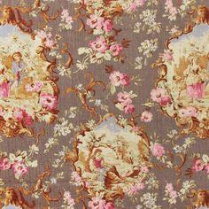 Toile de Jouy linen fabrics