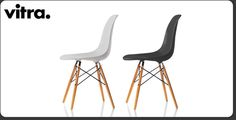 DSW chair, Designed by Eames Interior And Exterior, Interior Design, Charles Eames, My Dream Home, Black And White, Chairs, Furniture, Home Decor, Kitchens