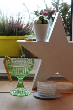 My white/gold Christmas 2013 . green Marybowl meets a big star (Ginger-Bee)