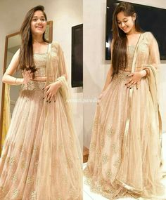 Jannat Zubair Ethnic Wardrobe Is Proof Shows Love for Lehengas; Indian Gowns Dresses, Indian Fashion Dresses, Dress Indian Style, Indian Designer Outfits, Pakistani Dresses, Long Dresses, Prom Dresses, Indian Bridal Outfits, Indian Bridal Fashion