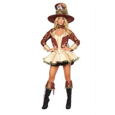 Sexy Halloween Costumes Deluxe Mad Hatter