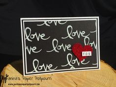 jpp - love, love, love you card / Stampin' Up! Berlin / Watercolor Words www.janinaspaperpotpourri.de