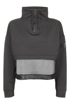 Zip Funnelneck Sweatshirt by Ivy Park - glutenfreefunnelcake Sport Outfits, Fall Outfits, Casual Outfits, Fashion Outfits, Athleisure Trend, Workout Attire, Topshop Tops, Sweatshirt Outfit, Topshop Outfit