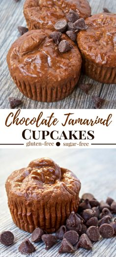 Chocolate Tamarind Cupcakes | Healthy Helper @Healthy_Helper A cupcake flavor doesn't get any more unique than this! Sweet and chocolatey with a little savory heat. Nothing compares to these fluffy n' light cupcakes. Gluten-free, made with whole grains, and super high in protein! They make a great snack or healthy dessert for the sophisticated palate! Gluten Free Cakes, Gluten Free Desserts, Easy Desserts, Delicious Desserts, Dessert Recipes, Yummy Food, Healthy Desserts, Scones, Healthy Cupcakes