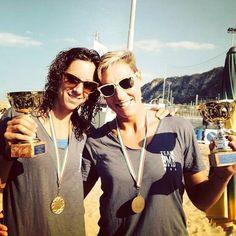 Sorridenti, Lucia Bacchi e Giulia Momoli, premiate per un' altra vittoria al #CampionatoItaliano di #BeachVolley!! Brave ragazze! #BigMamaBeach #sole #mare #spiaggia #sport