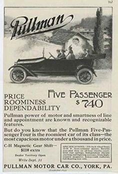 1916 Pullman Motor Car Co York PA Auto Ad