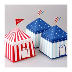Circus Paper Gift Box 5bags by verryberrysticker on Etsy