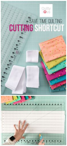 Save time quilting: Cutting shortcut by Emily of Quiltylove.com   Save time quilting with this cutting shortcut. The Stripology ruler saves so much time when cutting strips and squares for your quilt.
