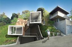 Brooks + Scarpa - Vail-Grant Residence located in Silverlake, CA  Total Area: 1,800 sq. ft.