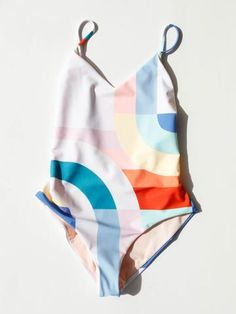 MARA HOFFMAN - CLASSIC ONE PIECE - WHITE MULTI