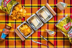 Crackers are nice, crusty bread is great—but sometimes you need the crunch, the grease, the caloric abandon that is a cheese and potato chip combo. Cheese Chips, Cheese Pairings, Cheese Potatoes, Salty Snacks, Test Kitchen, Potato Chips, Ruin, Crackers, Bbq