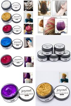 [Visit to Buy] 5 Colors Unisex DIY Hair Color Wax Mud Hair Care Dye Mud Maquiagem Disposable Beauty maquillaje Temporary Modeling Dye Cream #Advertisement