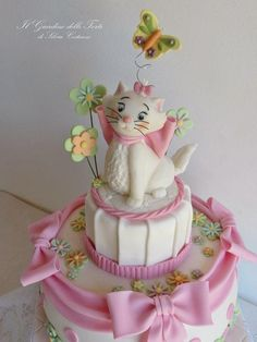 Marie, sweet kitty from Aristocats! - Cake by Silvia Costanzo