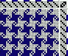 Houndstooth weaving pattern