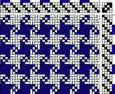 Houndstooth weaving pattern