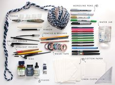 Visit Stephanie Fishwick's blog for a beginner calligraphy essentials supplies!