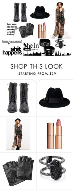 """""""SheIn"""" by time-tik ❤ liked on Polyvore featuring Gucci, Karl Lagerfeld and Kendra Scott"""