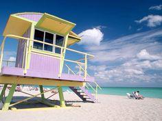 Miami beach, pastel colour combos