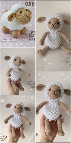 Amigurumi related to each other, we continue to share with each other. In this article amigurumi sheep free crochet pattern is waiting for you. Crochet Sheep Free Pattern, Crochet Stitches Patterns, Crochet Patterns Amigurumi, Crochet Dolls, Free Crochet, Crochet Panda, Easter Crochet, Crochet Bear, Cute Sheep