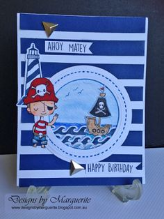 Designs by Marguerite: ahoy matey |  CTMH Regatta Paper Collection