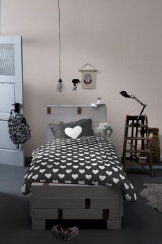 Dekbedovertrekset #tienerkamer 1 persoons hearts | Villa Vrolijk