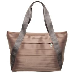Large Boat Tote Handbag Colorblock Taupe and Storm Gray