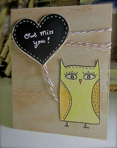 Owl miss you #card