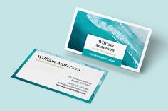 Clean and modern Adobe InDesign Business Card Template - OCEAN. Download on CreativeMarket.