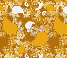 Golden Paisley fabric by art_is_us on Spoonflower - custom fabric