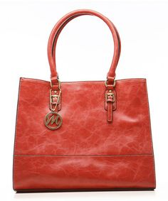 ea22410803 Look what I found on  zulily! Tomato Red Morgan Tote by emilie m.