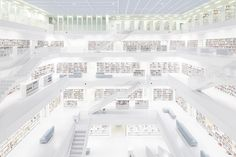 The new Municipal Library in Stuttgart by Ardex, TRILUX & Co. KG, Yi Architects and Sichtkreis Architekturfotografie http://www.archello.com/en/project/new-municipal-library-stuttgart?utm_content=buffer69109&utm_medium=social&utm_source=pinterest.com&utm_campaign=buffer