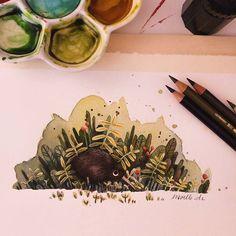 Kiwi bird   *** #kiwi #kiwibird #experiment #illustration #art #nature…
