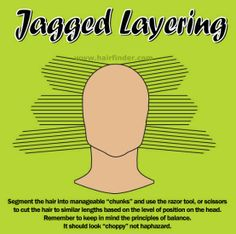 Jagged layering cut-how to. www.hairfinder.com