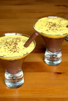 This fantastic dessert recipe form Amy Gulick is comprised of a thick chocolate custard topped with vibrant zabaione.
