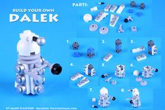 There are tons of great Dalek designs out there - a quick search here on Flickr will turn up dozens. Because I keep getting asked this is how I build mine.  (I'm sure bits of it are borrowed from other peoples LEGO Daleks, apologies to you for the lack of credit - if you think your's helped inspire me put a link in the comments!)