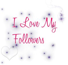 Thanks for following me! ♥