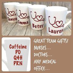 011f9404187 Medical Doctor Nurse coffee mug PO Q4H PRN Nursing School gift Nurse  graduation gift Caffeine every