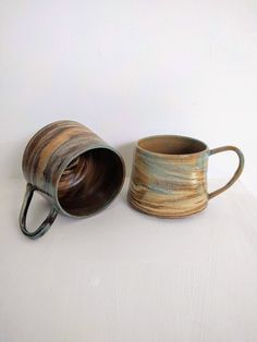 Items similar to Caramel swirl mug on Etsy Stoneware Mugs, Brown Beige, Caramel, Etsy Shop, Ceramics, Natural, Tableware, Happy, Shopping