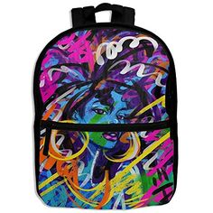 SARA NELL Kids School Backpack African American Women Art Painting Book Bag  For Boys Girls 1cd88752107e9