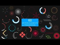 FREE TEMPLATE] After Effect - Motion Elements Pack - YouTube