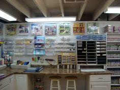 Cox3349's Gallery: Dink's Craft Studio, Shelf-Full Wall. Peg board heaven!
